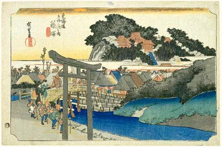 algum desenho do período Edo, casas