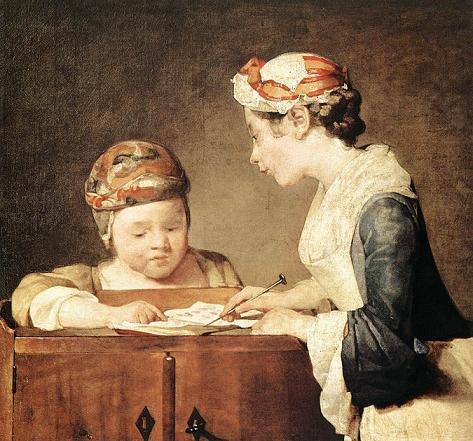 Jean Baptiste Simeon Chardin - A jovem professora