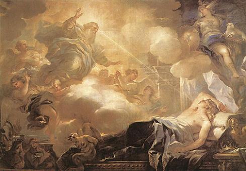 O sonho de Salomão, de Luca Giordano