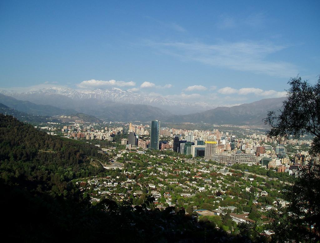 Santiago vista a distância durante passeio com os colegas chilenos