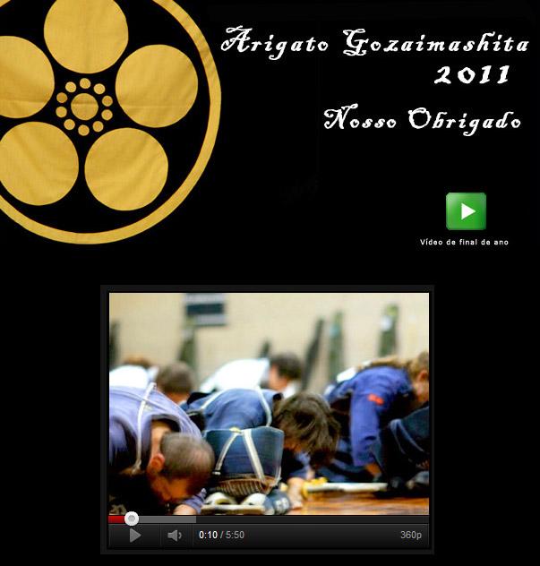 VEJA AS IMAGENS: Arigato Gozaimashita 2011 VIDEO DE FINAL DE ANO